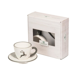Espresso voor jou set - Hert grijs cadeauverpakking