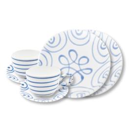 Ontbijt voor twee set- Geflammt blauw cadeuaverpakking