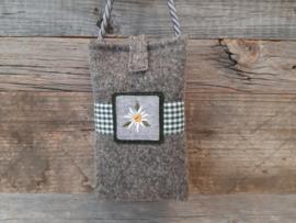 Telefoonhoesje Edelweiss - groen