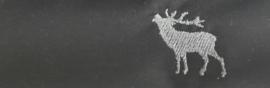 Mondkapje Hert- effen zwart