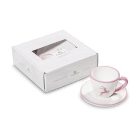 Espresso-set Hert roze
