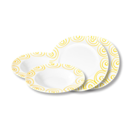 Diner voor twee set  - Geflammt geel cadeauverpakking