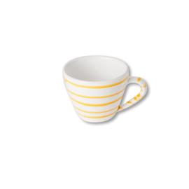 Cappuccinokopje Geflammt geel - 0,16 l