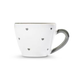 Espresso kopje Hartjes grijs - 0,06 l