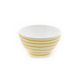 Mueslischaal groot Geflammt geel- 14 cm cadeauverpakking