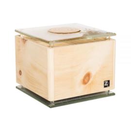 Luchtreiniger ZirbenLüfter® Cube rondo glas goud