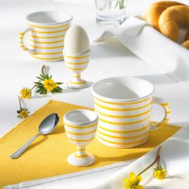 Dinerbord Geflammt geel - 25 cm