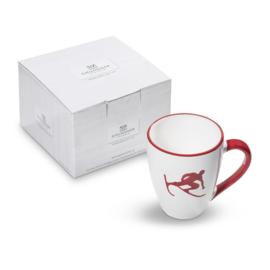 Koffiebeker Max Toni der Skifahrer robijnrood - 0,3 l