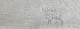 Mondkapje Hert - effen licht grijs