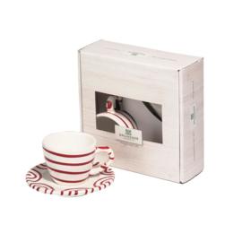 Espresso voor jou set- Geflammt rood cadeauverpakking