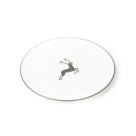 Dinerbord Hert grijs - 25 cm