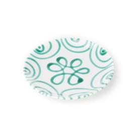 Dessertbord Geflammt groen  - 20 cm