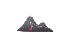 Kussen bergtoppen & gondel - 65 x 40 cm