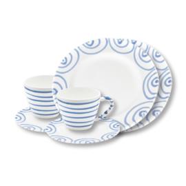 Ontbijt voor twee set - Geflammt blauw cadeauverpakking