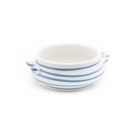 Soepkom Geflammt blauw - 0,37 l