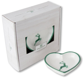 Schaaltje hart -  Hert groen cadeauverpakking