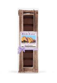 Donkere bio chocolade met Alpenkruiden