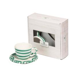 Espresso voor jou set  - Geflammt groen cadeauverpakking