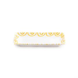 Snackschaal Geflammt geel - 22 x 11 cm