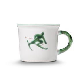 Koffiebeker Toni der Skifahrer groen - 0,24 l