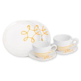 Ontbijt voor twee set - Pur Geflammt geel cadeauverpakking