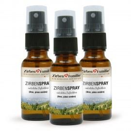ZirbenSpray - set van 3 stuks - 20 ml