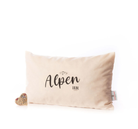 Zirben kussen Alpenliebe - 36 x 20 cm