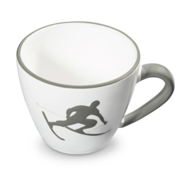 Koffiekopje Toni der Skifahrer grijs - 0,2 l