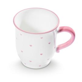 Chocolade beker hartjes roze- 0,3l