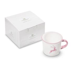 Koffiebeker Hert roze - 0,24 l