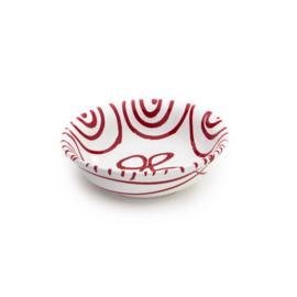 Mueslischaal klein Geflammt rood - 14 cm