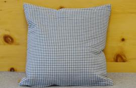 Kussenhoes Paula Blauw met ruit - 40 x 40 cm