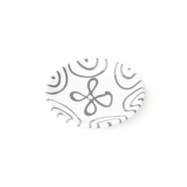 Schoteltje koffiekopje of theekopje - Geflammt grijs - 15 cm
