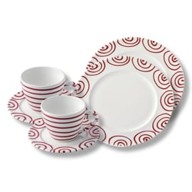 Ontbijt voor twee set - Geflammt rood cadeauverpakking