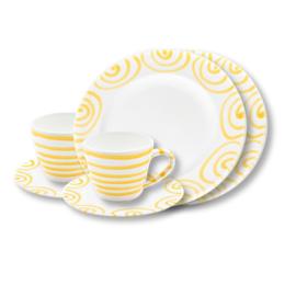 Ontbijt voor twee set - Geflammt geel cadeauverpakking