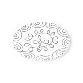 Dinerbord Geflammt grijs - 25 cm