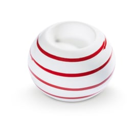Waxinehouder Geflammt rood - 10 cm