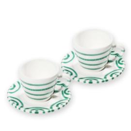Espresso voor twee - Geflammt groen cadeauverpakking