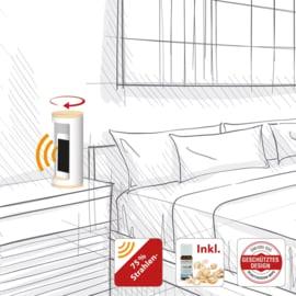 Nightholder voor mobiele telefoon - 75% minder straling - wit