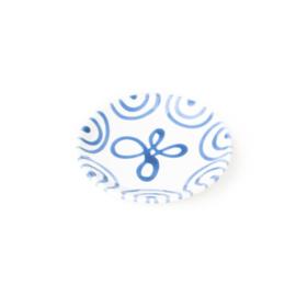 Schoteltje koffiekopje en theekopje Geflammt blauw - 15 cm