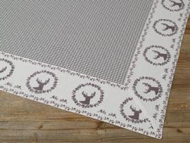 Tafelkleed Gerry hert grijs - 100 x 100 cm
