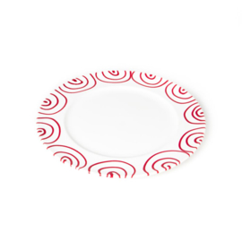 Dinerbord Geflammt rood - 27 cm