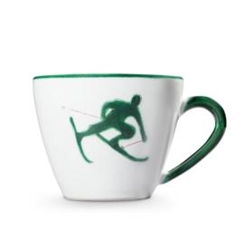 Koffiekopje Toni der Skifahrer groen - 0,2 l
