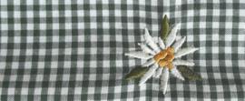Mondkapje Edelweiss - groen geruit