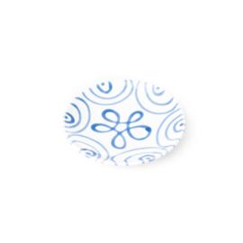 Schoteltje voor moccakopje Geflammt blauw - 11 cm