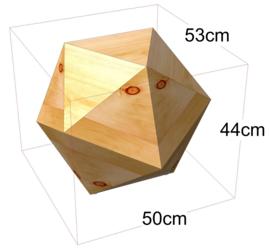 Zirbenlamp Ikos 3 - hoogte 44 cm
