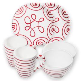 Berghut ontbijt set voor 2 - Geflammt rood