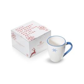 Koffiebeker Max Sneeuwkristal blauw - 0,3 l cadeauverpakking