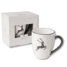 Koffiebeker Max - Hert grijs cadeauverpakking