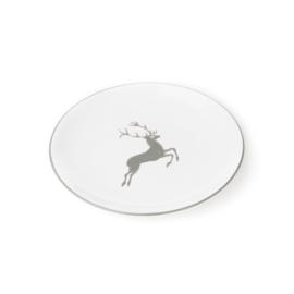 Dessertbord Hert grijs - 20 cm